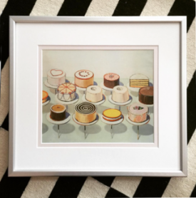 Print: CAKES, by Wayne Thiebaud - Bought from National Gallery of Art